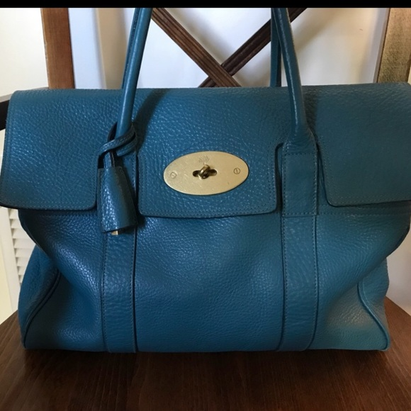 bf1606ab41 authentic mulberry bayswater petrol blue. M 5bd9ab08819e900a5f10b49f